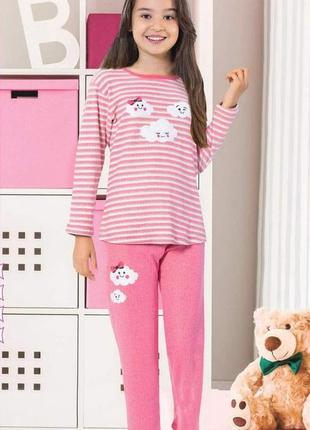 Пижама для девочки cloud. розовая.