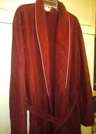 Немецкий мужской  банный халат на запах с поясом 54 р. на высокий рост.