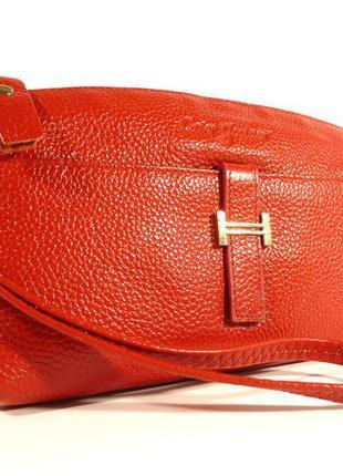 Кошелек-клатч кожаный 1103  красный, расцветки в наличии