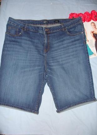 Шорты джинсовые женские летние размер 56 /22 большого размера стрейчевые