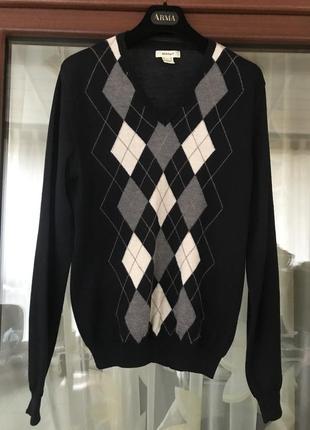Пуловер мужской шерстяной стильный модный дорогой бренд gant размер s/m
