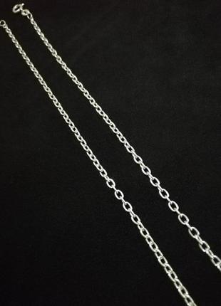"""Серебряная цепочка 50 см # якорная цепочка серебро 925""""лот 173"""