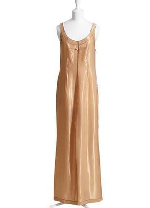 Шикарное платье нюдовое, золотое лимитированная коллекция/xs/ maison margiela