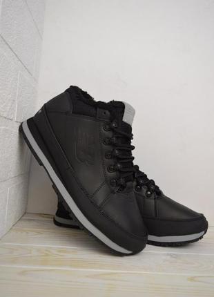 New balance 754 black fur мужские зимние ботинки с мехом чёрные зима