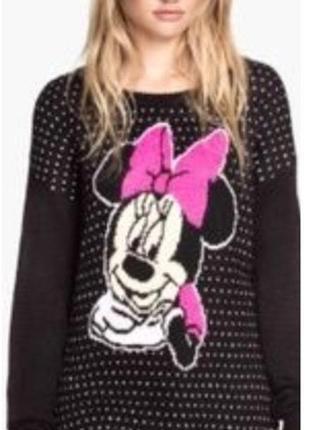 Платье-свитер с минни маус