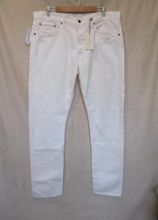 Крутые белые джинсы с потертостями от simon miller/на высокий рост