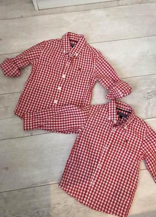Рубашки на погодок tommy hilfiger