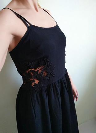 Красивое интересное платье, m-l сарафан с прошвой
