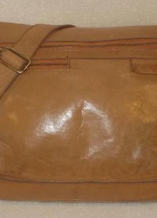 Крупная мужская сумка *rowallan* натуральная кожа