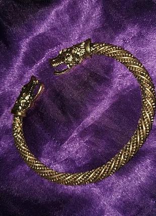 Викинговский браслет с драконами дракон