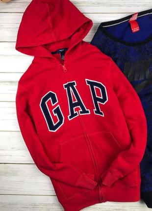 Тёплое зип-худи gap красного цвета