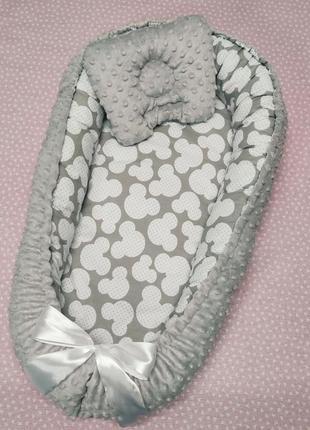Кокон гнёздышко с подушкой для малышей от 0 до 6 месяцев 🎊.