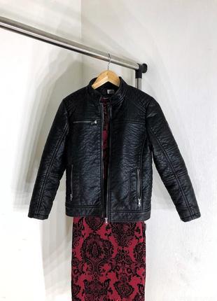 Плотная куртка косуха из эко кожи