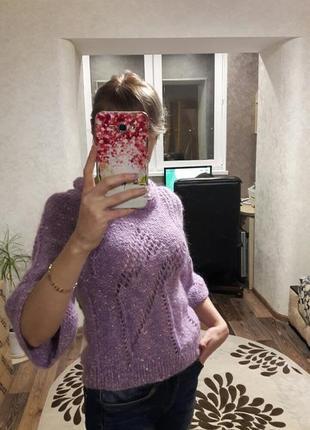 Тёплый свитер из мохера 42р