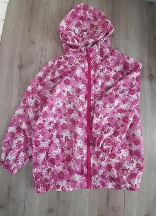 Ветровка , куртка avenue под резинку розовый/белый цвет на возраст  9-10 лет