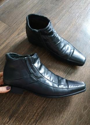 Ботинки зимние, туфли, полусапожки зима, кожаные 41р