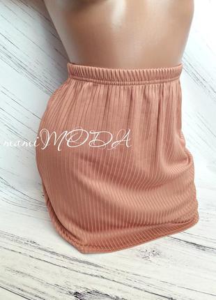 Шикарная мини юбка в рубчик от plt size 16