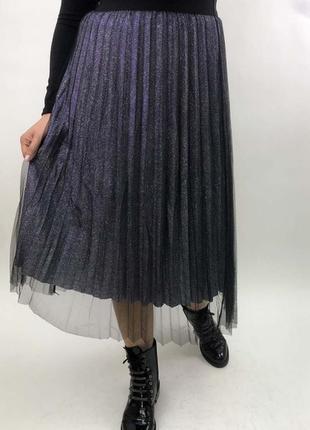 Плиссированная юбка из фатина
