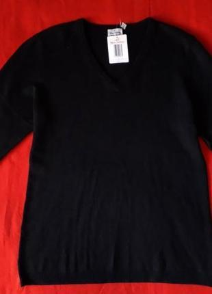 Базовый черный свитер кофта джемпер пуловер blue motion кашемир шелк