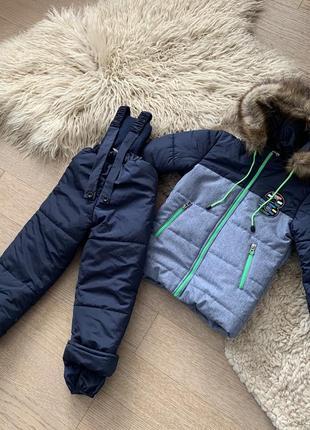 Зимний комбинезон на мальчика 3-6 лет, размеры 98-116, 721