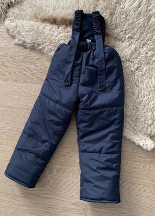 Зимний полукомбинезон штаны на мальчика 3-6 лет, размеры 98-116, 7211