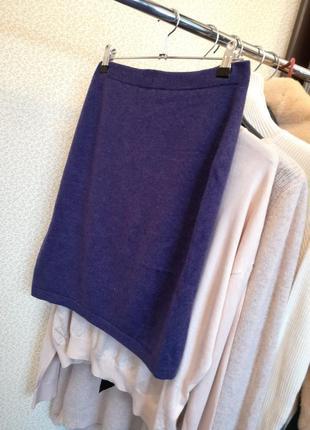 Теплая юбка миди 100 %кашемир