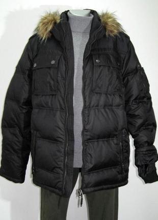 Мужская черная куртка iguana , пуховик