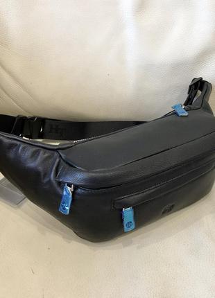 Кожаная сумка поясная сумка- бананка барсетка шкіряна сумка