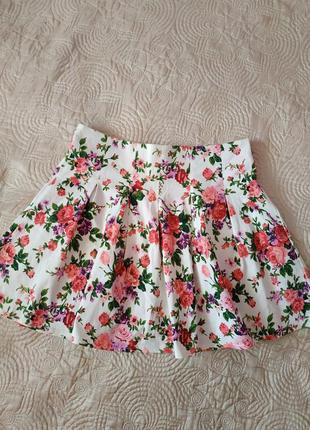 Классная юбка в цветочный принт от fb sister