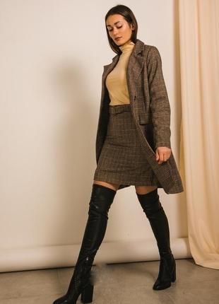 Костюм твидовый пиджак с юбкой мастхев