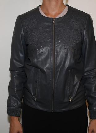 Кожаная куртка kookai с вышивкой