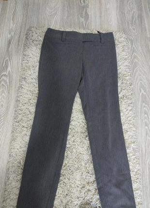 Летние брюки с вискозой базового, серого цвета