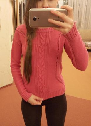 Яркий вязаный свитер vero moda