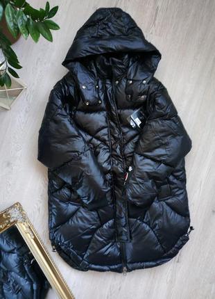 Куртка пуховик пальто зефирка оверсайз зимний