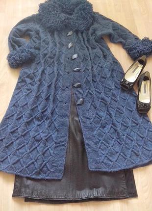 Вязаное пальто l - хl
