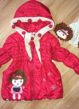 Деми куртка для девочки 3-4 года