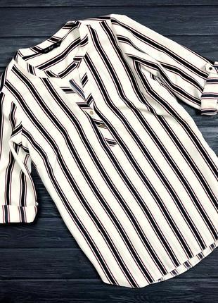 Рубашка полосатая женская блуза в наличии с