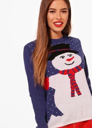 Новогодний свитер кофта