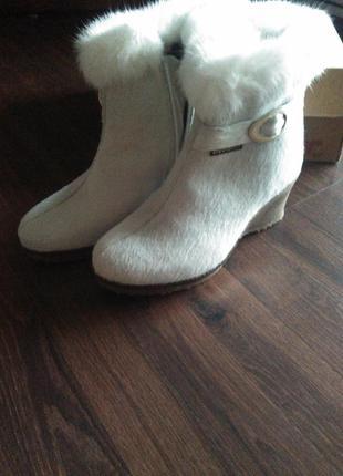 Зимние полусапоги ботинки кожа пони oscar sport 39 италия