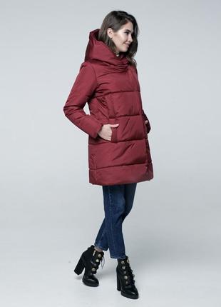 Женская зимняя куртка с капюшоном высокого качества| цена от производителя!
