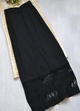 Шифоновая юбка макси с красивой вставкой charles voegele большой размер батал