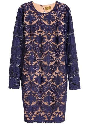 Ажурное платье h&m размер 42