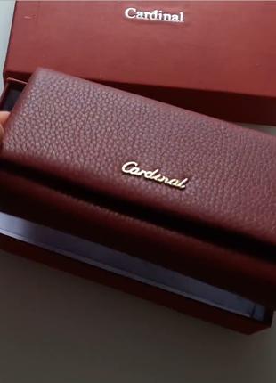 Женский кожаный кошелек с визитницей | cardinal, италия - идеальный подарок