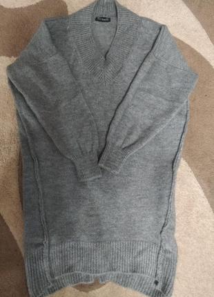 Стильное вязаное платье oversize