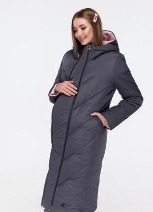 Зимнее пальто для беременных двухстороннее