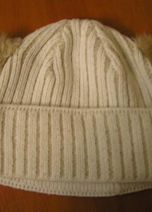 Прикольная шапка с ушками