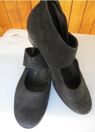 Туфли из натурального нубука mephisto