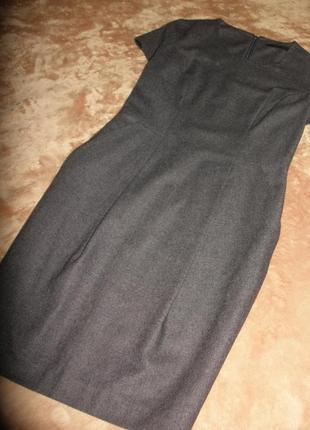Идеальное платье в деловом стиле тонкой шерсти french connection на подкладке