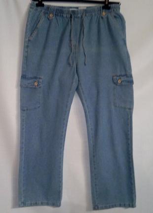 Комфортные и удобные коттоновые джинсы на резинке фирмы laura  kent .