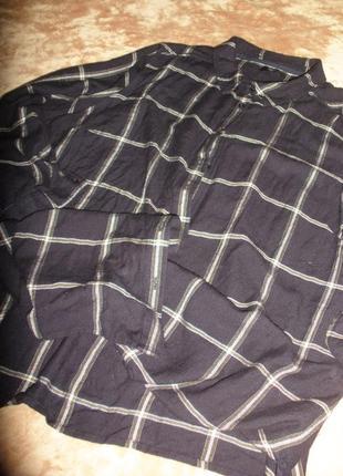 """Теплая фланелевая рубашка m&co  в клетку """"оконная рама"""" для роскошной барышни"""
